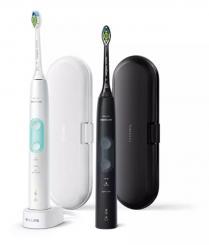 Sonicare ProtectiveClean 5100 Szónikus elektromos fogkefe, dupla csomag, mentazöld-fekete kép
